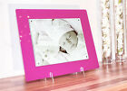 """Acrylic gloss 14x12"""" magnetic desk picture photo for a 10X8"""" all colours"""