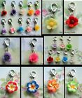 FLOWER FLORAL ROSE BLOSSOM DAISY CLIP-ON CHARM FOR LIVING LOCKETS BRACELETS ETC