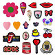 YH Drink Lips Embroidery Sew On Patch Badge Clothes Fabric DIY Applique Sticker