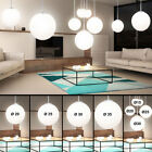 LED ball suspended lamps living dining room glass ceiling pendant light satined