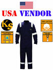 High Viz Long Sleeve Safety Coveralls Construction 3M Reflective Jumpsuit Unisex