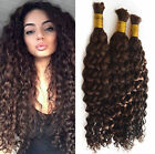 7A Peruvian Virgin Hair Kinky Curly Braiding Human Hair Afro Curly Hair 3bundle