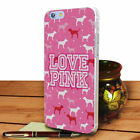 Phone Case Love Pink Purple Stripe Hard Case Cover For iPhone Samsung Painted