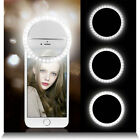 Portable Selfie 36 LED Ring Flash Fill Light Clip Camera For i phone And Samsung