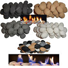Pack of 10 pebbles/Stones White/Black/Grey/Beige gas fires, fires, LPG & Bio
