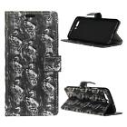 For LG Ray X190 3D Punk Style Rugged PU Leather Flip Cover Case Wallet Horse