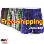 Boxers Mens Plaid Shorts Underwear Cotton Blend Briefs Pairs Pack Comfortable