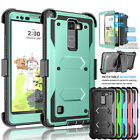 For LG G Stylo 2 / Stylus 2 & Plus Armor Phone Case Belt Clip Holster Hard Cover