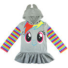 Girls My Little Pony 3D hoodie long sleeve top t-shirt tee jumper size 5-7 AU
