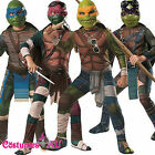Mens TMNT Costume SET Teenage Mutant Ninja Turtles Movie Deluxe Fancy Dress