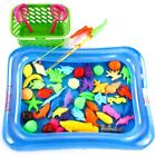 magnetic fishing pole game - Magnetic Fishing Game Toy Set 50pcs 2 Fishing Pole Rod Pool and Inflator For Kid
