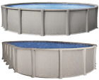 Salt-friendly Matrix Above Ground Steel Wall Swimming Pool Kit Round Oval Liner