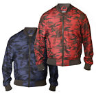 D555 Mens Camouflage Bomber Jacket MA1 (CAMO)