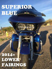 Superior Blue Lower Vented Fairing fit 14-17 Harley FLHR FLHXS FLTRX Electra