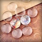 3/5/6/8/10pcs Glass Cabochon Pendant Flat Back Clear Cameo Clear Jewelry Making