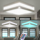 RGB LED Ceiling Light Chrome Bathroom Remote Control IP44 Outdoor Lamp dimmable