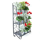 3 Tier Outdoor Plant Stand Rack Metal Garden Display Pot Shelf Christmas Gift