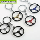 Sparc* Racing Car Steering Wheel Zinc Alloy Mini Keychain Keyring Pendent JDM