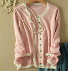knitted 100% cashmere sweater women's sweater cardigan coat jacket new