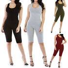 New Sleeveless Bodycon Bermuda Short Catsuit Bodysuit Rompers Size S-2XL RF0766