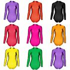 Girls Dance / Gymnastics Long Sleeve Leotard - 12 COLOURS Available *UK STOCK*