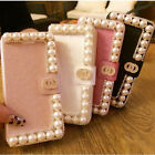 Pearl Luxury Bling Crystal Diamond Hard Case Cover Holster for Samsung Note  5