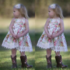 Baby Girls Lace Floral Dress Kids Party Wedding Pageant Formal Dresses Clothes