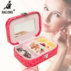 Jewelry Storage Organizer Portable Jewelry Display Box Ring Earrings Case Holder