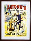 AD MOTOR CYCLE TRICYCLE FRANCE VINTAGE WEIRD FRAMED PRINT F97X2368