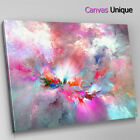 AB1218 fuchsia pink blue cloud  Abstract Canvas Wall Art Framed Picture Print