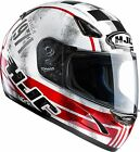 HJC CS14 CS-14 Check 71 Red Full Face Motorcycle Crash Helmet NEW RRP £79.99
