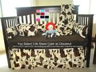 Western Crib Bedding Set Brown Cow Print Cowboy Style Baby Bedding