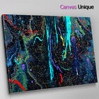 AB1664 black blue red paint drip Abstract Canvas Wall Art Framed Picture Print
