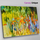 AB1612 impressionist orange green Abstract Canvas Wall Art Framed Picture Print