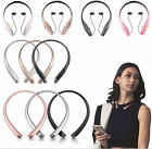 Bluetooth Neckband Stereo Headset Hands-Free Retractable Headphone for iPhone LG