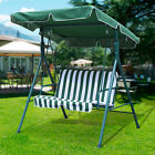 2/3 Person Outdoor Canopy Swing Seat Patio Hammock Furniture Bench Yard Loveseat