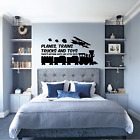 Boys Air Plane Train Truck Room Decor Wall Decal Home Decor Wall Accents Bedroom