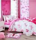Catherine Lansfield Pink Butterfly Girls Bedding Range Single Or Double