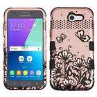 Samsung GALAXY J3 Prime Sol 2 Impact TUFF HYBRID Armor Rubber Rugged Case Cover