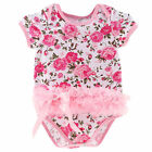 Baby Girls Cotton Romper Jumpsuit Lace Dress Toddler Newborn Outfits Clothing