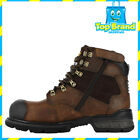 Caterpillar Mens Brakeman Hi Zip Steel Cap Safety Boots Dark Beige P717494