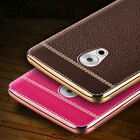 Luxury Ultra-thin Leather Plating Bumper Back Case Skin Cover For Meizu (Meilan)