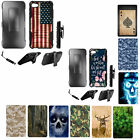 For Alcatel Crave / Pulse Mix (2017) Armor Hybrid Combo Holster Kickstand Case