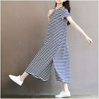 Pregnant Women's Summer Long Dress with Sashes Cotton Pregnancy Striped Dresses