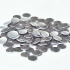 Metal Rhinestud Ornament Round Iron On Hotfix Studs Motif -Gray Gun -144PCS
