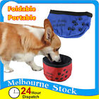 Pet Dog Cat Portable Foldable Travel Feeding Bowl Water Food Dish Feeder Bottle
