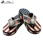 Montana West Flip Flops Western American Pride Flag Star 4th of July Sandals