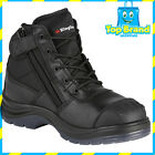 King Gee tradie safety lace and zip work boots anti static toe bump cap k27150