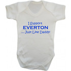 Baby Grow Bodysuit - I Support Everton Just Like Daddy - Football Gift Dad