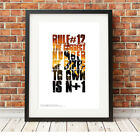 N+1 ❤ CYCLING ❤ poster art Limited Edition Print in 5 sizes #29